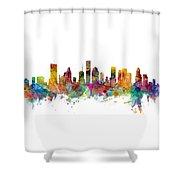 Houston Texas Skyline Panoramic Shower Curtain