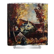 Houyet Village Belgium Shower Curtain