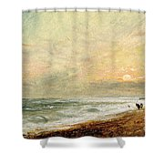 Hove Beach Shower Curtain by John Constable