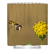 Hoverfly Shower Curtain