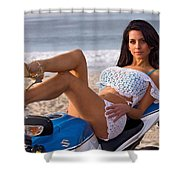 How About Those Legs? Shower Curtain
