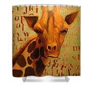 How Do You Spell Giraffe? Shower Curtain