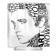 How Great Thou Art Elvis Wordart Shower Curtain