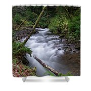 How The River Flows Shower Curtain