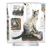 How To Live With A Cat Shower Curtain