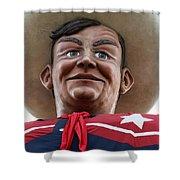 Howdy Folks - Big Tex Portrait 02 Shower Curtain