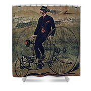 Howe Bicycles Tricycles Vintage Cycle Poster Shower Curtain For Sale By Muirhead Gallery