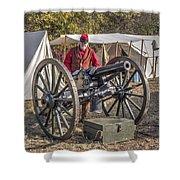 Howitzer Battle Of Honey Springs V3 Shower Curtain