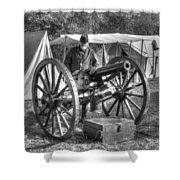 Howitzer Battle Of Honey Springs V4 Shower Curtain