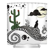An Evening In The Desert Shower Curtain