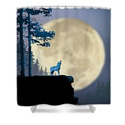 Howling Coyote Shower Curtain