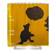Howling Song Shower Curtain