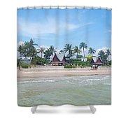 Huahin Beach View Shower Curtain