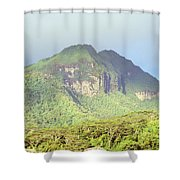 Huahine Forest And Mountaintop Shower Curtain