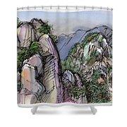 Huangshan, China Shower Curtain