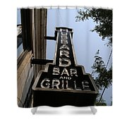 Hubbard Bar And Grille Sign Shower Curtain