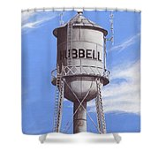 Hubbell Water Tower Ne Shower Curtain