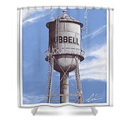 Hubbell Water Tower Poster Shower Curtain