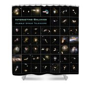 Hubble Galaxy Poster Shower Curtain