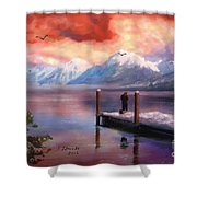 Hudson Bay Winter Fishing Shower Curtain