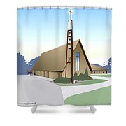 Hudson Community Church Shower Curtain