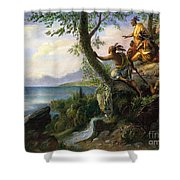 Hudson: New York, 1609 Shower Curtain