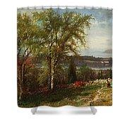 Hudson River At Croton Point Shower Curtain