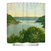 Hudson River From Bear Mt. Shower Curtain