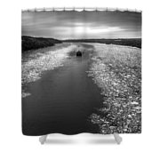 Hudson River In Winter Shower Curtain