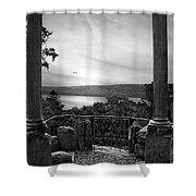 Hudson River Views Shower Curtain