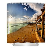 Huequito Beach Shower Curtain