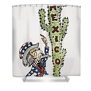 Huerta: Cartoon, C1914 Shower Curtain
