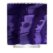 Hues Of Massey Hall - Purple Shower Curtain