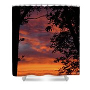 Hues Of Orange Shower Curtain