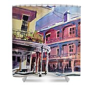 Hues Of The French Quarter Shower Curtain