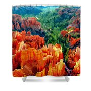 Hues Of The Hoodoos In Bryce Canyon National Park Shower Curtain