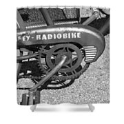 Huffy Radio Bike Shower Curtain