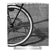 Huffy Shadow Shower Curtain