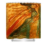 Hug Time - Tile Shower Curtain