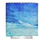 Huge And Blue Shower Curtain