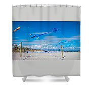 Huge Kites Delray Beach Shower Curtain
