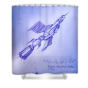 Huge Space Shuttle. In Antiworld Shower Curtain