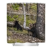 Hugging A Tree Shower Curtain