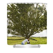 Hugging The Fairy Tree In Ireland Shower Curtain