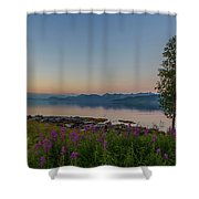 Hugging Trees Shower Curtain
