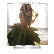 Hula At Sunrise Shower Curtain by Tomas del Amo - Printscapes