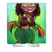 Hula Dancer Shower Curtain