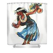 Hula Dancer With Uli Shower Curtain