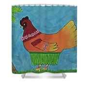 Hula Hen Shower Curtain