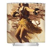 Hula On The Beach Shower Curtain